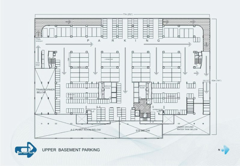 Binarius a software technology park in pune india House plan with basement parking